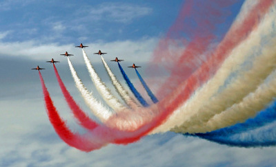 Photo Competition - Red Arrows at the Sywell Airshow 2012. Taken on a Nikon D90 with Nikon 70-300mm lens - Keith Griffiths