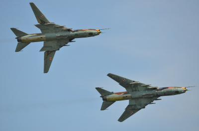 Photo Competition - 3612 and 9616 Sukhoi Su-22M-4K 'Fitter', Polish Air Force, photographed at RIAT 2014 - Andrew Ratcliffe