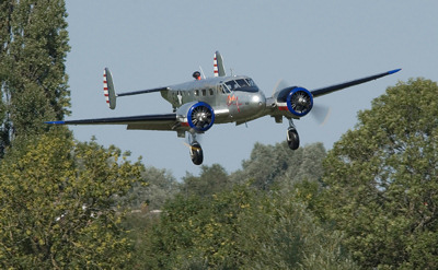 Photo Competition - Beech 18 arriving at The Victory Show, Cosby 2018. Nikon D7000 camera and Sigma 150-500mm lens - Keith Griffiths
