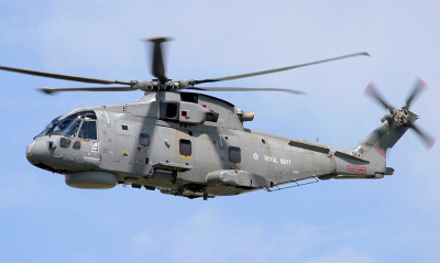 Royal Navy Merlin helicopter.