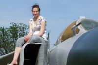 Job Done! Mig restoration team member Miss Kaye Watson at Newark.