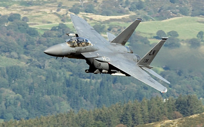Photo Competition - USAF F-15E Strike Eagle on a low level training mission over Mid Wales. Taken on a Nikon D7100 with Nikon 300mm F4 lens - Keith Griffiths