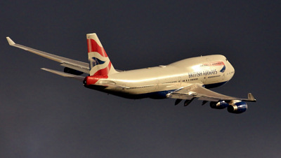 Photo Competition - British Airways 747, Speedbird Heavy Golf-Foxtrot, after take-off, turn right, to avoid incoming Bad Weather! Taken in October 2018, at Bedfont, near LHR, with my Canon EOS700D, and Canon 100-400 lens - Peter Busby