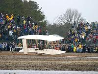 Wright Flyer replica  - A 100th-anniversary attempt to re-create the Wright brothers' first flight at Kitty Hawk, North Carolina. - photo by Dean Alexander.