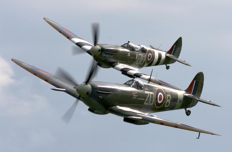 Spitfires at Duxford.