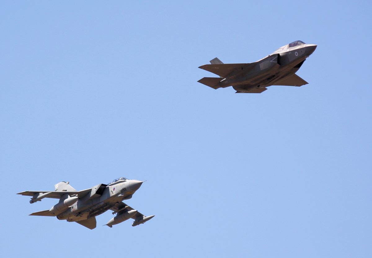 F-35B Lightning II & Tornado GR4.