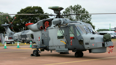 Royal Navy Wildcat helicopter.
