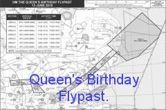 Queens Birthday Flypast 2017.
