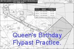 Queens Birthday Flypast 2017 rehearsal.