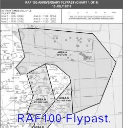 RAF100 Flypast 2018.