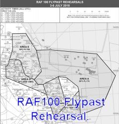 RAF100 Flypast Rehearsal 2018.