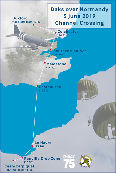 DAKS over Normandy Route
