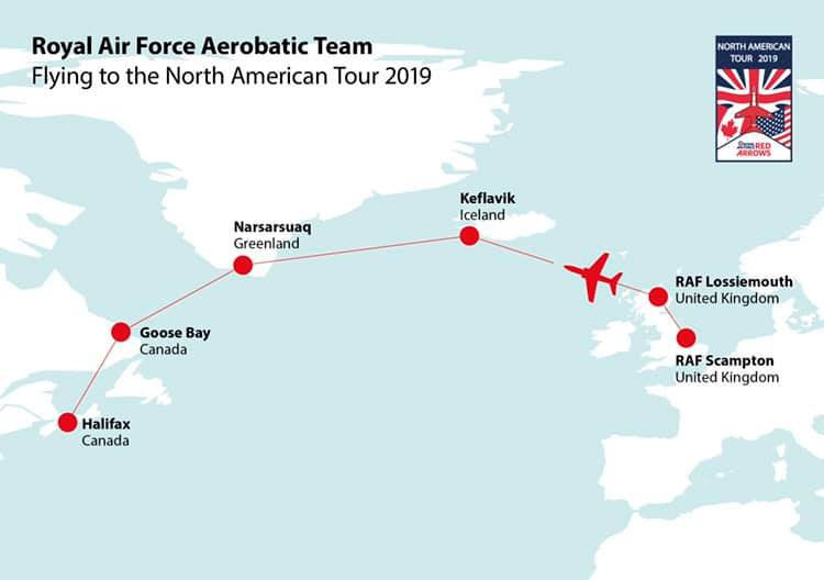 Red Arrows Display Schedule 2019 + North American Tour Dates